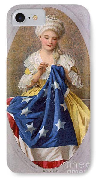 Betsy Ross, American Flag Design IPhone Case