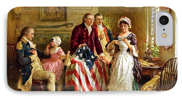 Betsy Ross And General George Washington IPhone 7 Case by War Is Hell Store