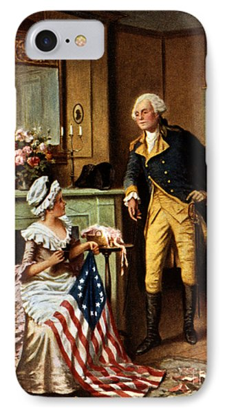 Betsy Ross And George Washington IPhone Case