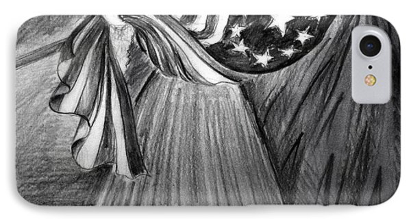 Betsy Ross With 1st Us Flag IPhone Case by Sofia Metal Queen