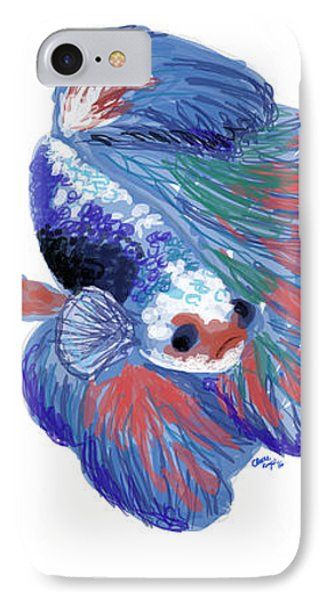 Betta Fish IPhone Case by Claire Kemp