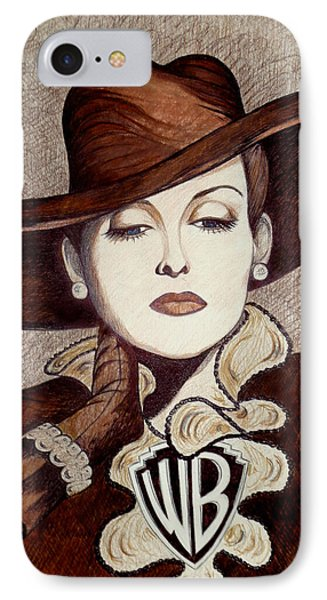 Bette Davis The Warner Brothers Years IPhone Case by Tara Hutton