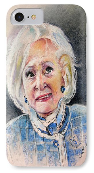 Betty White In Boston Legal Phone Case by Miki De Goodaboom