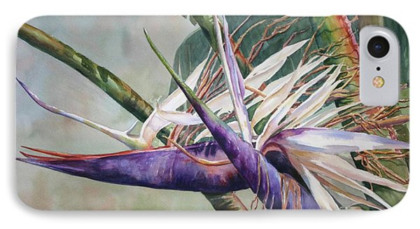 IPhone Case featuring the painting Betty's Bird - Bird Of Paradise by Roxanne Tobaison