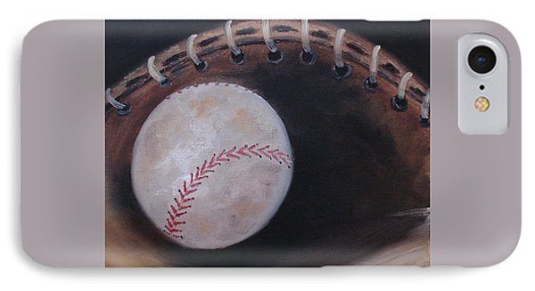 IPhone Case featuring the painting Between Innings by Judith Rhue