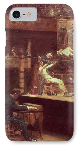 Between Rounds IPhone Case by Thomas Cowperthwait Eakins