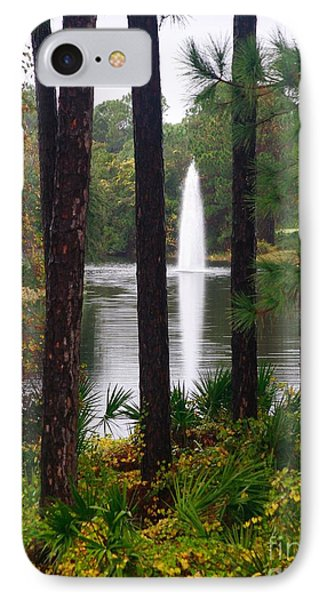 Between The Fountain IPhone Case by Lori Mellen-Pagliaro