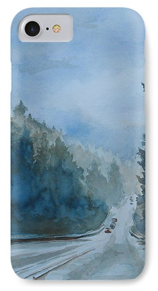 Between The Showers On Hwy 101 IPhone Case by Jenny Armitage
