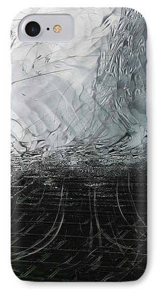 IPhone Case featuring the digital art Between Us, This Melancholy Sea by Wendy J St Christopher