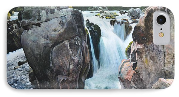 Betws-y-coed Waterfall In North Wales IPhone Case