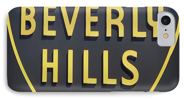 Beverly Hills Sign IPhone Case by Mindy Sommers
