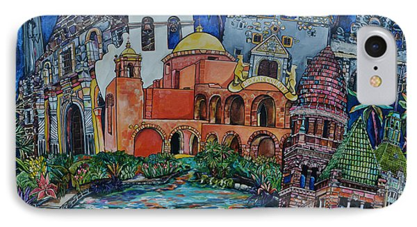 IPhone Case featuring the painting Bexar County Missions by Patti Schermerhorn