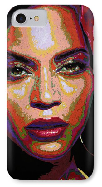 Beyonce IPhone 7 Case by Maria Arango