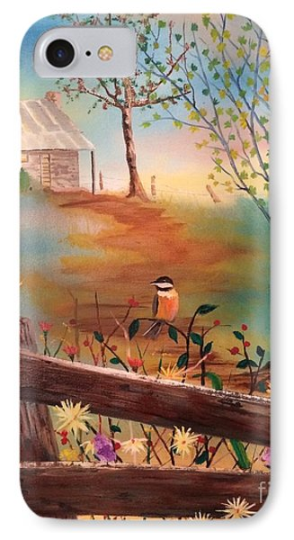 IPhone Case featuring the painting Beyond The Gate by Denise Tomasura