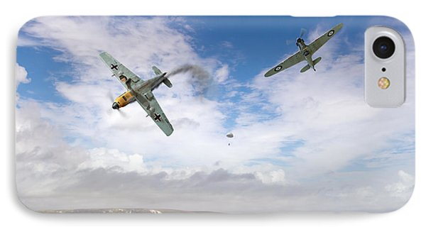 IPhone 7 Case featuring the photograph Bf109 Down In The Channel by Gary Eason