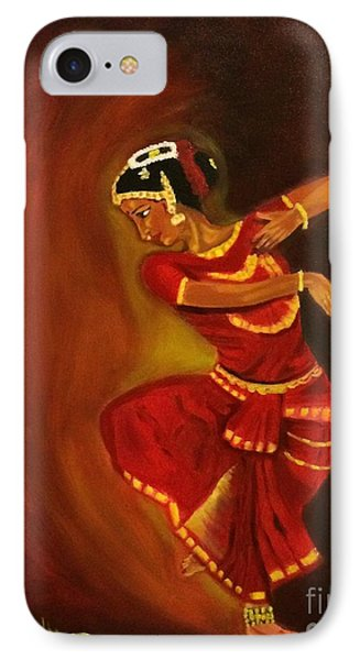 IPhone Case featuring the painting Bharatnatyam Dancer by Brindha Naveen