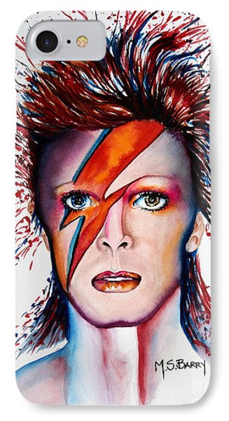 IPhone Case featuring the painting Bi Bi Bowie by Maria Barry
