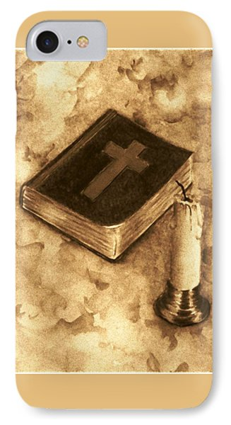 Bible And Candle Phone Case by Michael Vigliotti