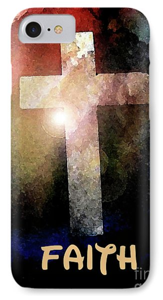 IPhone Case featuring the painting Biblical-faith by Terry Banderas