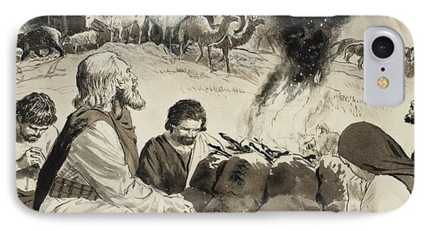 Biblical Scene Depicting Noah's Ark IPhone Case by Clive Uptton