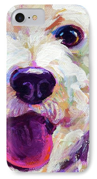 Bichon Frise Face IPhone Case by Robert Phelps