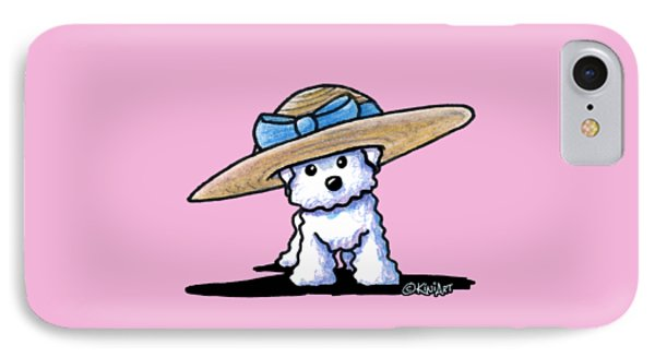 Bichon In Hat IPhone Case by Kim Niles