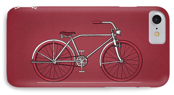 Bicycle 1935 IPhone 7 Case by Mark Rogan