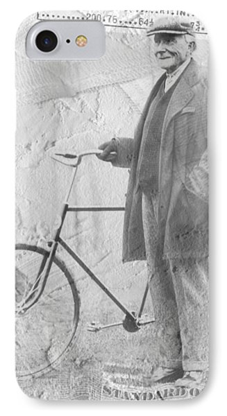 Bicycle And Jd Rockefeller Vintage Photo Art Phone Case by Karla Beatty
