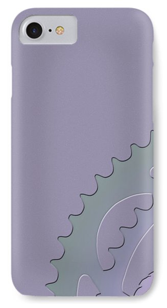 Bicycle Chain Ring On Lavender Mist - 1 Of 4  IPhone Case by Serge Averbukh