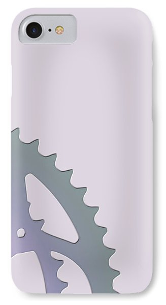 Bicycle Chain Ring On Lavender Water - 2 Of 4 IPhone Case by Serge Averbukh