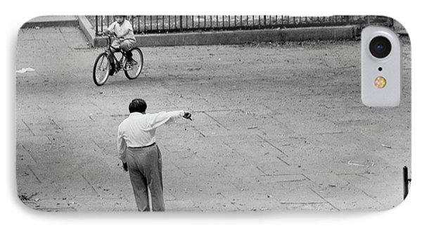IPhone Case featuring the photograph Bicycle Lesson Schurz Park by Dave Beckerman