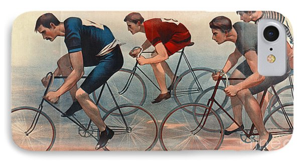 Bicycle Lithos Ad 1896nt IPhone Case by Padre Art