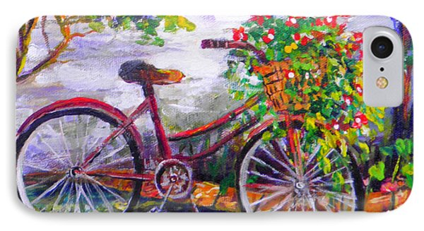 Bicycle IPhone Case by Lou Ann Bagnall