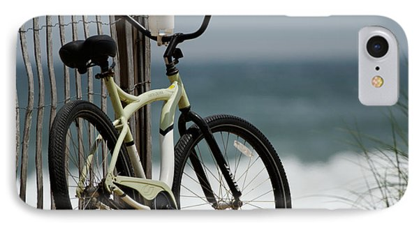 Bicycle On The Beach Phone Case by Julie Niemela