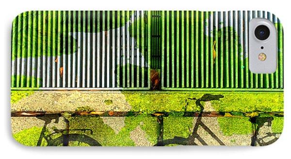 Bicycle Parking IPhone Case by Nancy Merkle