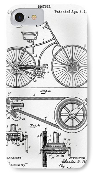 Bicycle Patent 1890 IPhone Case by Bill Cannon