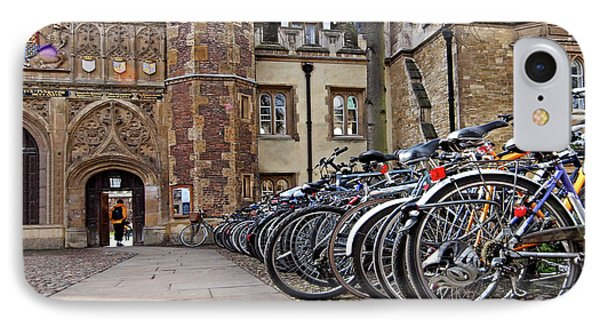 IPhone Case featuring the photograph Bicycles At Trinity College Cambridge by Gill Billington