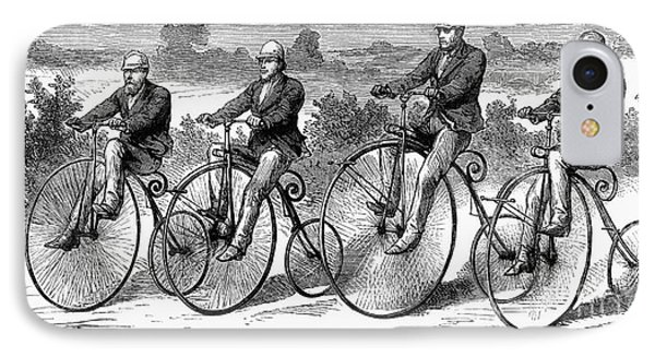 Bicycling, 1873 Phone Case by Granger