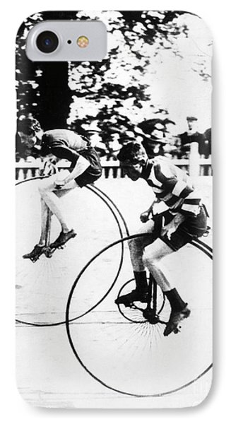 Bicycling Race, C1890 Phone Case by Granger