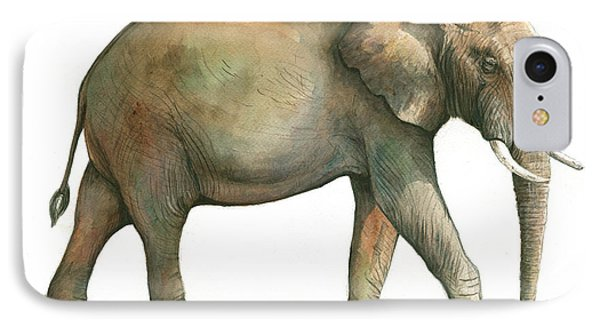 Big African Male Elephant IPhone Case