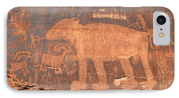 Big Bear Petroglyph Phone Case by David Lee Thompson