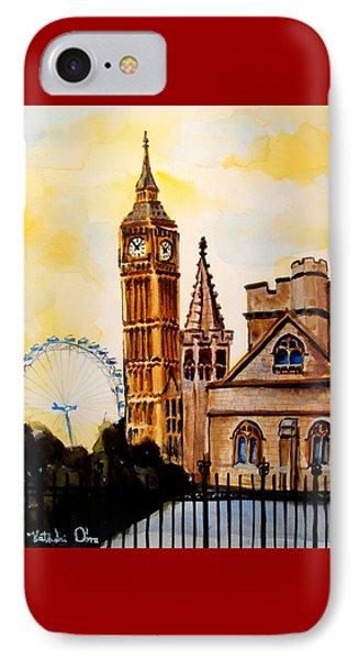 Big Ben And London Eye - Art By Dora Hathazi Mendes IPhone Case by Dora Hathazi Mendes