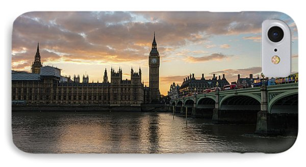 Big Ben London Sunset IPhone 7 Case by Mike Reid