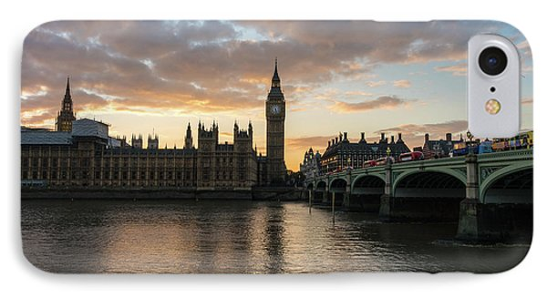 Big Ben London Sunset IPhone Case by Mike Reid