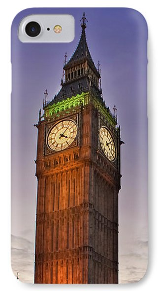 IPhone Case featuring the photograph Big Ben Twilight In London by Terri Waters