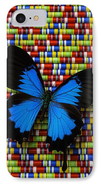 Big Blue Butterfly IPhone Case by Garry Gay