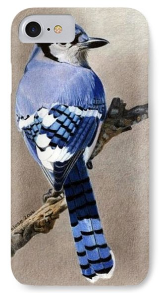 Big Blue Jay IPhone Case by Ana Tirolese