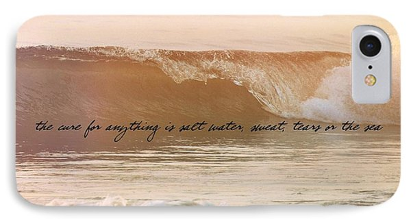 Big Blue Ocean Quote IPhone Case by JAMART Photography