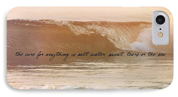 Big Blue Ocean Quote IPhone Case
