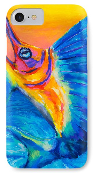 IPhone Case featuring the painting Big Blue by Stephen Anderson